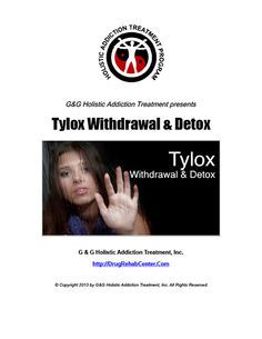 This Special Report discusses Tylox Withdrawal and Tylox Detox.