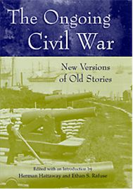 """The Ongoing Civil War is a selection of the essays that best represent the successful balance between """"serious scholarship"""" and a narrative reading style preferred by the educated layman. They cover a range of topics as diverse as conflict among commanders, the supply runs vital to the Union victory at Gettysburg, the network of scouts and spies used by Robert E. Lee, and the painstaking process of organizing and publishing the Official Records."""