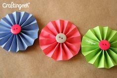 6 Flores de papel para decorar tus proyectos