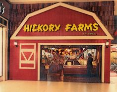 I remember when Hickory Farms stores looked like this. Are there still actual Hickory Farms stores, or are they just holiday kiosks these days? Food Court, Ed Vedder, Hickory Farms, It's Over Now, Mall Stores, Retro, Photo Vintage, Vintage Images, The Lone Ranger