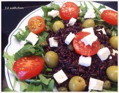 Riso Venere con Feta, Pomodorini e Olivehttp://fitwithfun.altervista.org/riso-venere-con-feta-pomodorini-e-olive/