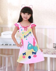 Cheap cloth rag, Buy Quality nightgown dresses directly from China cloth child Suppliers: Cute Little Girl Dresses, Dresses Kids Girl, Cute Little Girls, Kids Outfits, New Fashion, Kids Fashion, Pijamas Women, Kids Vest, Pajama Pattern