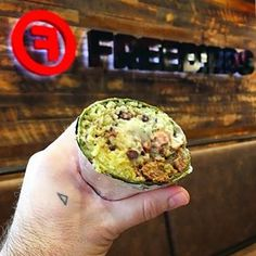 Freebirds World Burrito--It is HUGE and delicious.