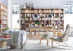 Keys to recognize and decorate with the Nordic style Billy Regal Ikea, Modular Furniture, Mediterranean Style, Nordic Style, Bookcase, Shelves, Luxury, Inspiration, Interior Designing