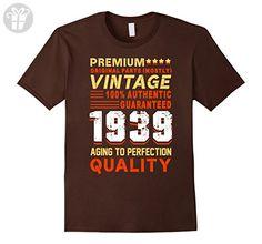 Mens Vintage 1939 T-Shirt. Funny Birthday Gifts For Men/Women Medium Brown - Birthday shirts (*Amazon Partner-Link)
