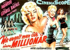 marilyn monroe | 1953, Marilyn Monroe, movie, poster, film, How to Marry a Millionaire ...