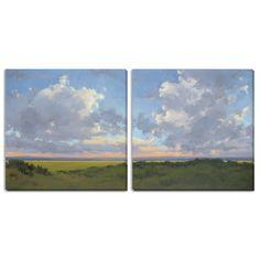 "Make a statement with this beautiful diptych, available in three different sizes. <ul><li>Artist: Kim Coulter</li><li>Title: ""Afternoon Sky I"" and ""II"" </li><li>Product type: Canvas Art Set</li></ul>"