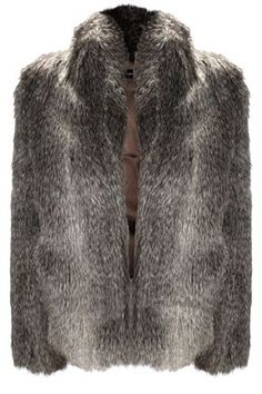 French Connection  FAUX fur -not real