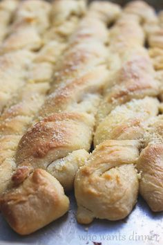 Who Wants Dinner?: Garlic Parmesan Twisted Breadsticks