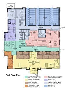 Oswego Animal Hospital in Oswego, Illinois: first floor | Hospital Design