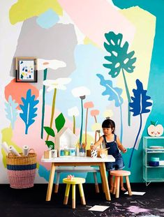 Colorful playroom for kids | Find similar chairs at http://www.jollyroom.se/search?text=alic&brand=Alice+%26+Fox | #jollyroom