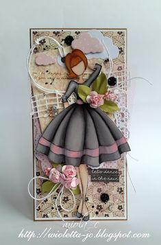 moje papierowe hobby, Card with doll - Julie Natting