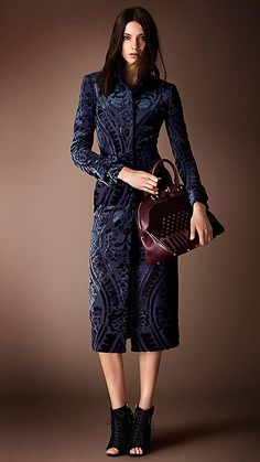 Tapestry Jacquard Fitted Coat | Burberry