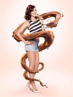 Hoppits Chocolates Splash :: CGI by Mahesh Patel :: Retouch by Vasudev Ghadi & Nilesh Thale at Happy Finish India.