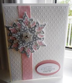 PENNY TOKENS STAMPIN SPOT: Festive Flurry Goes Pink