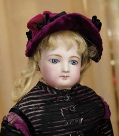 Sanctuary: A Marquis Cataloged Auction of Antique Dolls - March 19, 2016: French Bisque Poupee by Jumeau with Lovely Bisque and Costume