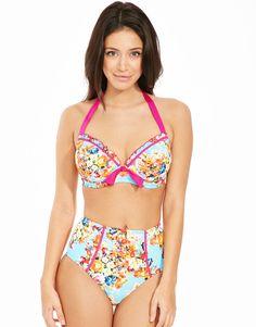 4d5e358f7c Seville Underwired Padded Halter Bikini Top