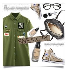 """""""Gold Sneakers"""" by fashionlover2157 ❤ liked on Polyvore featuring Loeffler Randall, Converse, Bobbi Brown Cosmetics, BERRICLE, fashionset and polyvoreeditorial"""