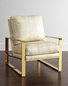 Dascha Leather Chair by Bernhardt at Neiman Marcus.