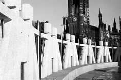 A view to St Thomas' Church from Haymarket roundabout in 1999, showing part of the 'Lego men' statues which disappeared when the Metro station was rebuilt. Photo by Trevor Ermel.
