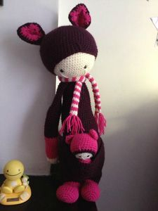 KIRA the kangaroo made by Anaïs / crochet pattern by lalylala