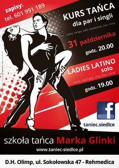 Szkoła Tańca Marka Glinki: SIEDLCE / ZAPISY NA NOWE KURSY TAŃCA: 31 PAŹDZIERNIKA 2014 (piątek)