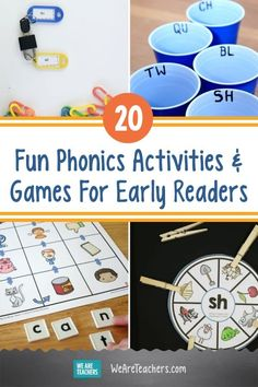 These fun phonics activities help kid learn to read by breaking words into their basic sounds, like phonemes, digraphs, diphthongs, and more. #phonics #phonicsactivities #activities #activitiesforkids #elementary #kindergarten #preschool #reading #classroom #classroomideas Fun Phonics Activities, Learning Phonics, Phonics Games, Kids Learning, Activities For Kids, Teaching, 2nd Grade Ela, Grade 1, Sounding Out Words