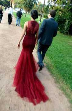 Custom blood red wedding gown by Casey Jeanne. Twitter: _Casey_Jeanne_ Facebook: http://www.facebook.com/CaseyJeanneDesigns (Follow the link to see more dresses)