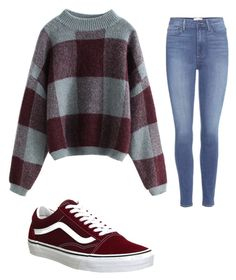 """Untitled #1123"" by alanawedge59 ❤ liked on Polyvore featuring Paige Denim and Vans"