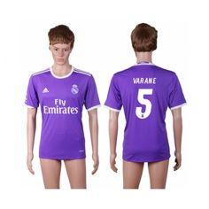 Real Madrid 16-17 Raphael #Varane 5 Bortatröja Kortärmad