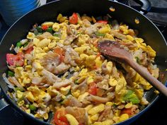 ackee and saltfish! Was talking about this yesterday. I neeeeeeed. A full meal with dumplings, plantains, tamarind balls, and a nice cold Spunk!
