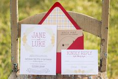 Craft Beer Inspired Custom Wedding Invitations & Stationery | Orchard | Fall | Rustic | Envelope Liner | Brewery Tour Map | Whimsy Design Studio