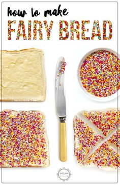 The official way to make fairy bread! Cooking Games For Kids, Cooking With Kids, Cooking Light, Cooking Beef Tenderloin, Cooking A Roast, Cooking Steak, How To Cook Barley, How To Cook Pork, Brown Rice Cooking