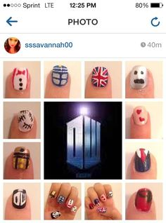 My Doctor Who nail art!