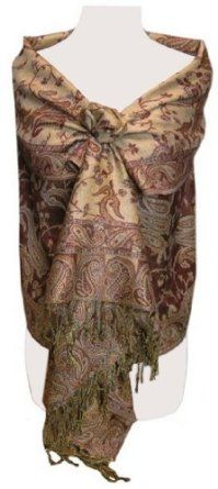 Reversible Paisley Pashmina Shawl Wrap in Elegant Colors...........I have one like this, and absolutely love it .