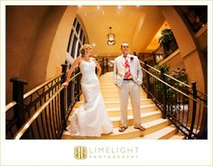 Hyatt Regency Clearwater Beach, Wedding, Bride and Groom, Stairs, Limelight Photography, www.stepintothelimelight.com