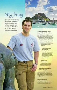 """NEW INTERVIEW: MY JERSEY Curious what Henry Cavill loves to do and see when he is back home in Jersey? Absolute Jersey, a local magazine, recently interviewed Henry Cavill and got the details. Henry shared his favorite place, which falls right in line with his love of history. """"Mont Orgueil castle is one of my favorite places. It'a a fully fledged castle for goodness sake! I love history so going there or just seeing it from afar is something that I enjoy immediately."""" He also gave details…"""