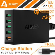 # Cheap Prices Aukey Quick Charge 2.0 54W 5 Ports USB Desktop Charging Station Wall Charger Fast charger for Samsung Galaxy S7/S6/Edge and more [5SOj3CyB] Black Friday Aukey Quick Charge 2.0 54W 5 Ports USB Desktop Charging Station Wall Charger Fast charger for Samsung Galaxy S7/S6/Edge and more [slBLbKh] Cyber Monday [MIylVa]