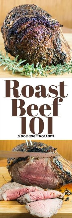 Beef 101 helps you have the perfect roast each time! Roast Beef 101 helps you have the perfect roast each time! Best Roast Beef, Roast Beef Dinner, Rib Roast, Best Beef Recipes, Cooking Recipes, Favorite Recipes, Good Roasts, Good Food, Yummy Food