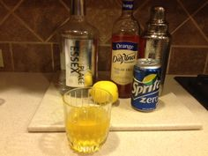 Shake all in shaker with ice. Drain into glass and add Diet Sprite to taste. Low Carb Cocktails, Orange Syrup, Chelsea Hotel, Tbs, Shake, Juice, Lemon, Diet, Glass