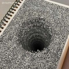 Impossibly Tiny Doodles Fill Sketchbook Pages with Surreal Optical Illusions – Zeichnung , Kritzeleien und mehr Illusion Drawings, 3d Drawings, Detailed Drawings, Pencil Drawings, Amazing Drawings, Amazing Artwork, Flower Drawings, Pencil Art, 3d Artwork