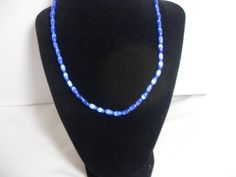 Blue Cat's Eye necklace, Oval Beads, Blue gemstone necklace, Southwestern necklace, Boho blue Necklace, gift for her, Gingerslittlegems