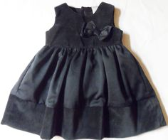 Fancy Party Dress Baby girl Black Sleeveless Lined Carter's infant 3 mo's.  #Carters #DressyHolidayWedding