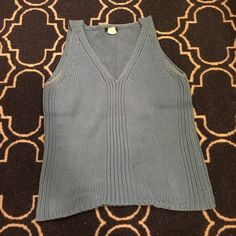 *DONATING SOON* J. Crew sleeveless sweater Sleeveless cotton sweater in A beautiful shade of blue. Lovingly worn. Some pilling/discoloration under the arms, but in good shape otherwise. Price reflects condition. J. Crew Sweaters