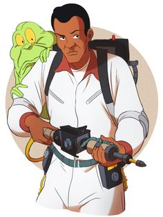 Ghostbusters Party, The Real Ghostbusters, Cartoon Drawings, Cartoon Art, Famous Movies, 80s Movies, Ernie Hudson, Skottie Young, Ghost Busters