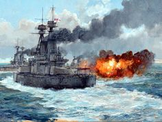 HMS Bellerophon at Jutland 1916