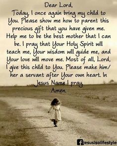For my son, thank you Lord for giving me the ability to show him who You are and how much You love him.