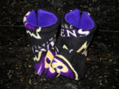 BALTIMORE RAVENS BUGGS Baby Slippers Toddler Boots by soohomemade, $12.00