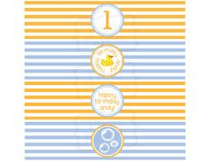 PRINTABLE PARTY PACKAGE Rubber Ducky Party by theprettypaperie, $30.00