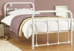 white metal bed frame for Dorm room